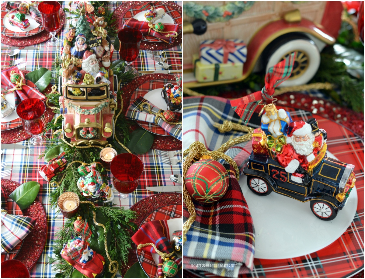 Merry Motoring Whimsical Christmas Tablescape