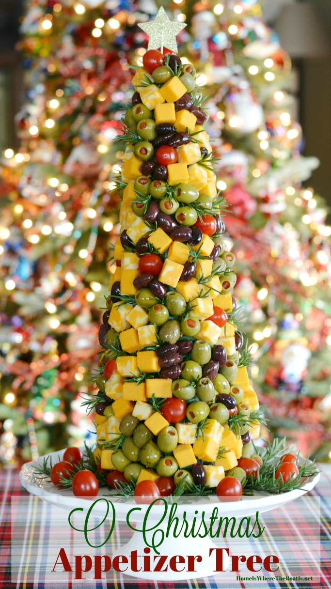 Impress your party guests with a Christmas Appetizer Tree! As fun to decorate as it is to eat! | ©homeiswheretheboatis.net #Christmas #party #appetizer