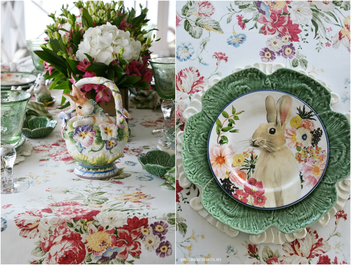 Bunnies and Blossoms Spring Tablescape
