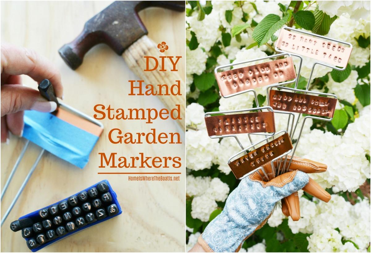 DIY Hand Stamped Garden Markers
