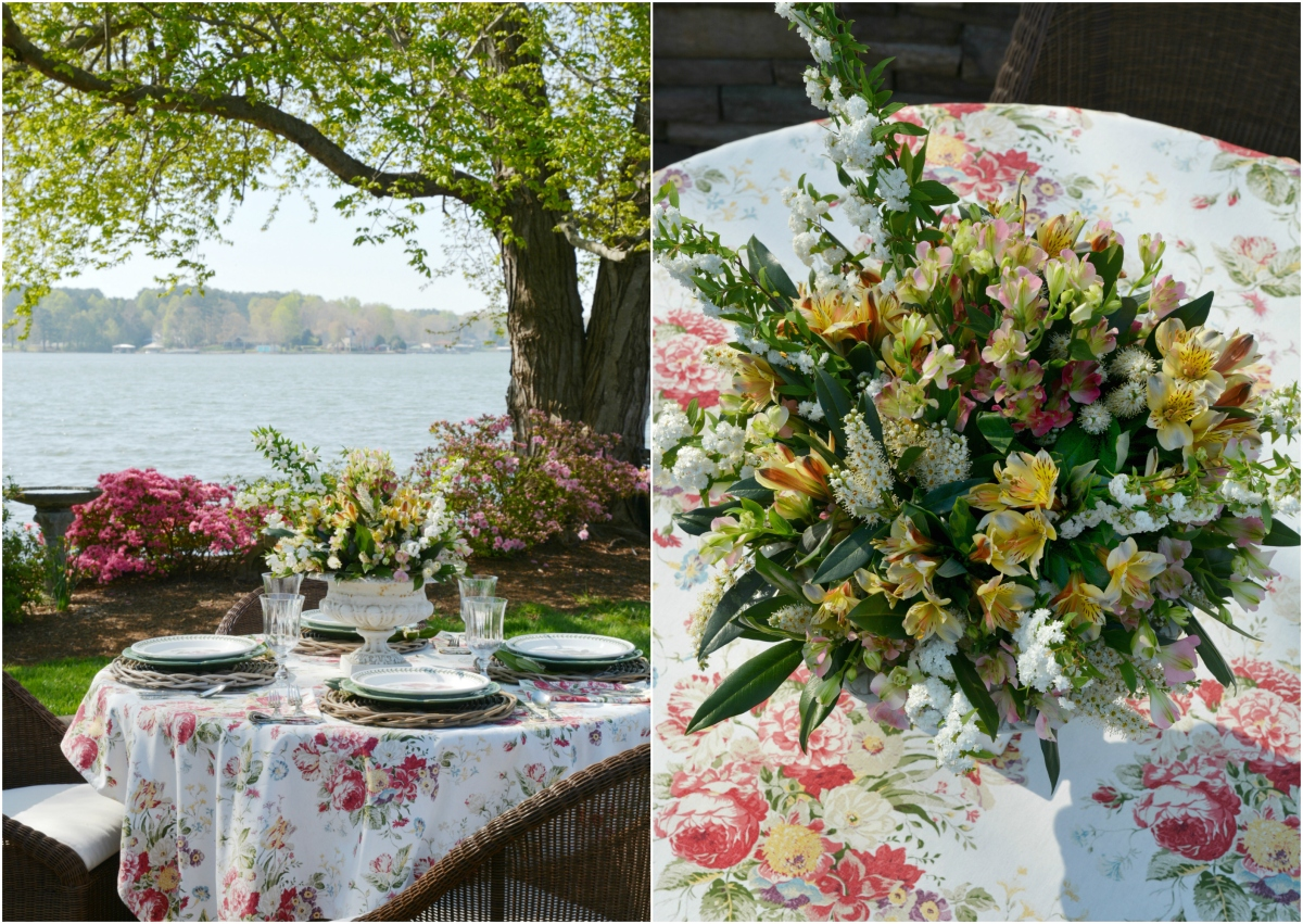 Floral Friday: Alfresco Spring Table and Urn Centerpiece