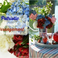 Floral Friday: Patriotic Flower Arrangement with an American Flag