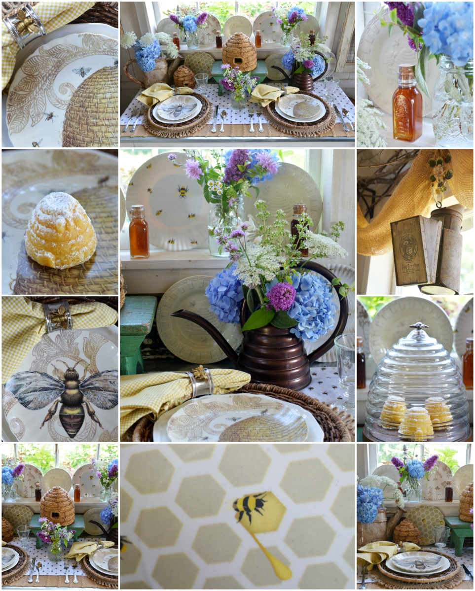 Dining with Bees in the Potting Shed + National Pollinator Week