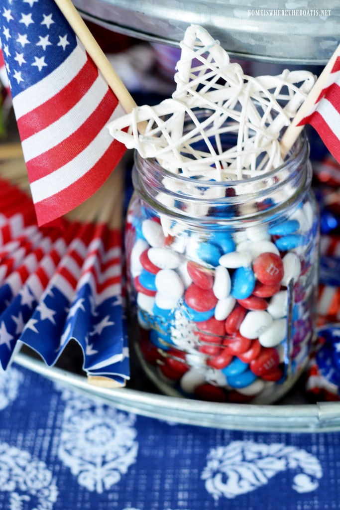 Celebrating The Red White Amp Blue Patriotic Table On The