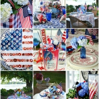 Stars and Stripes Patriotic Tablescape Round-Up