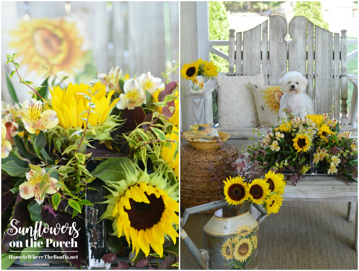 Floral Friday: Sunflowers on the Porch