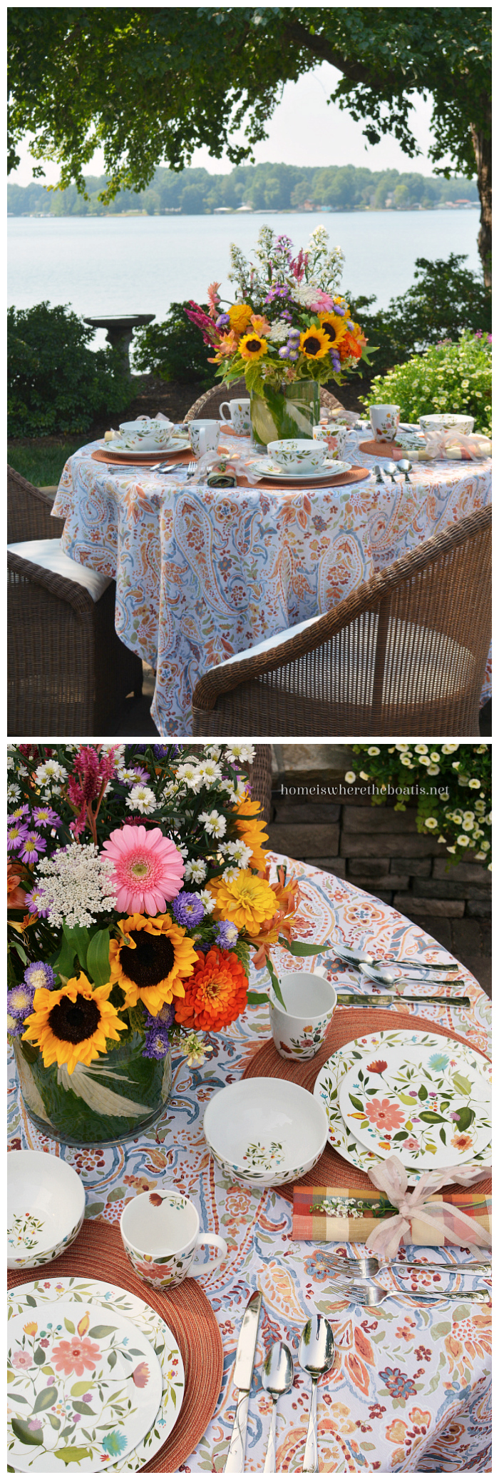 Amazing Outdoor Dining Summer Tablescapes Centerpieces And Beutiful Home Inspiration Ommitmahrainfo