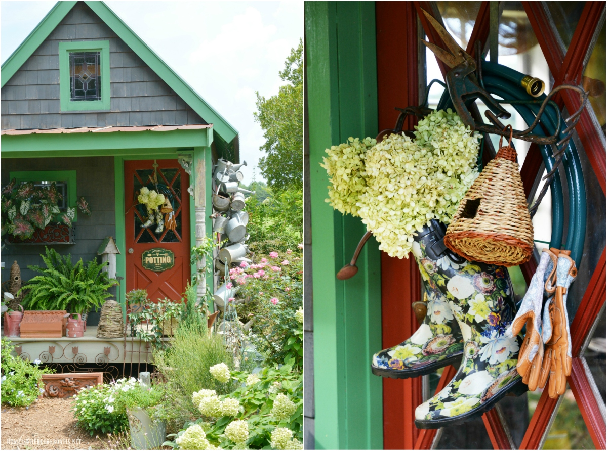 Anyone Can Be A Gardener: Garden Hose Wreath for the Potting Shed