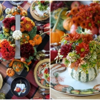 Floral Friday: Blooming Pumpkins and Harvest Pumpkin Table