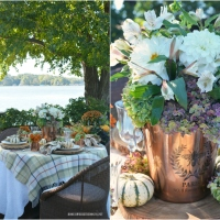 Floral Friday: A Touch of Copper Fall Alfresco Tablescape