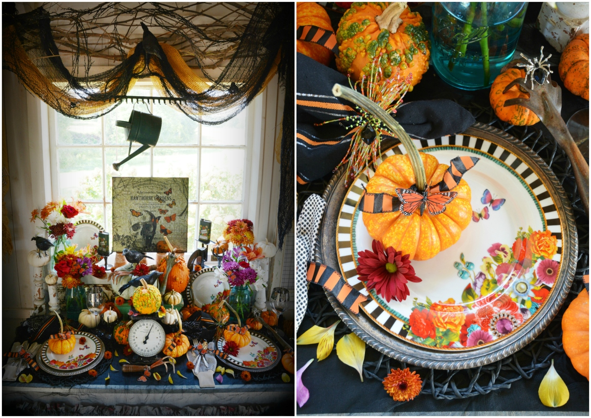 Hawthorne Gardens Wicked Beautiful Flowers + Spooky Halloween Table Fun