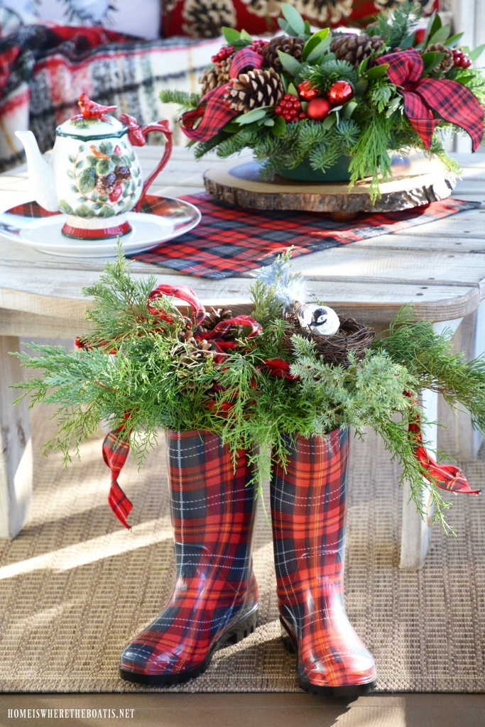 Monday Morning Blooms Christmas On The Porch And Giveaway Home