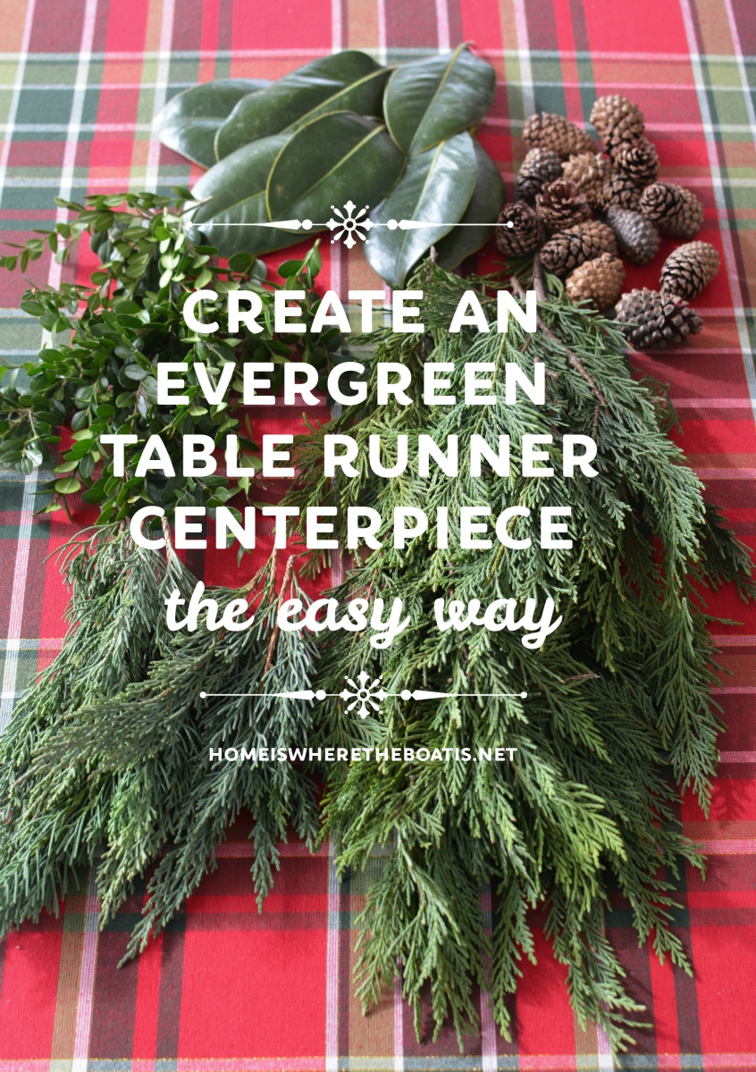DIY Evergreen Table Runner Centerpiece the EASY Way