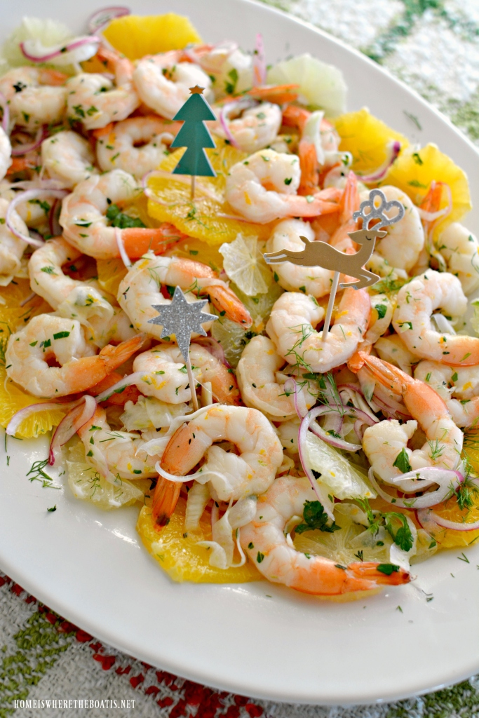 Citrus Marinated Shrimp | ©homeiswheretheboatis.net #shrimp #appetizer #recipe #citrus #makeahead #newyear #christmas