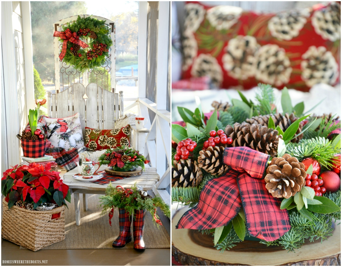 Monday Morning Blooms: Christmas on the Porch and Giveaway!
