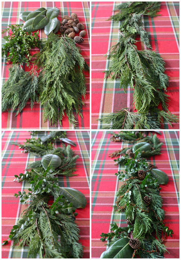 Diy Evergreen Table Runner Centerpiece The Easy Way Home Is Where