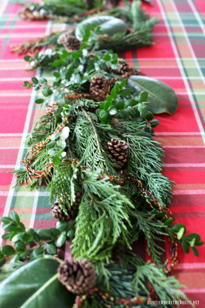 Christmas Greenery Centerpieces.Diy Evergreen Table Runner Centerpiece The Easy Way Home