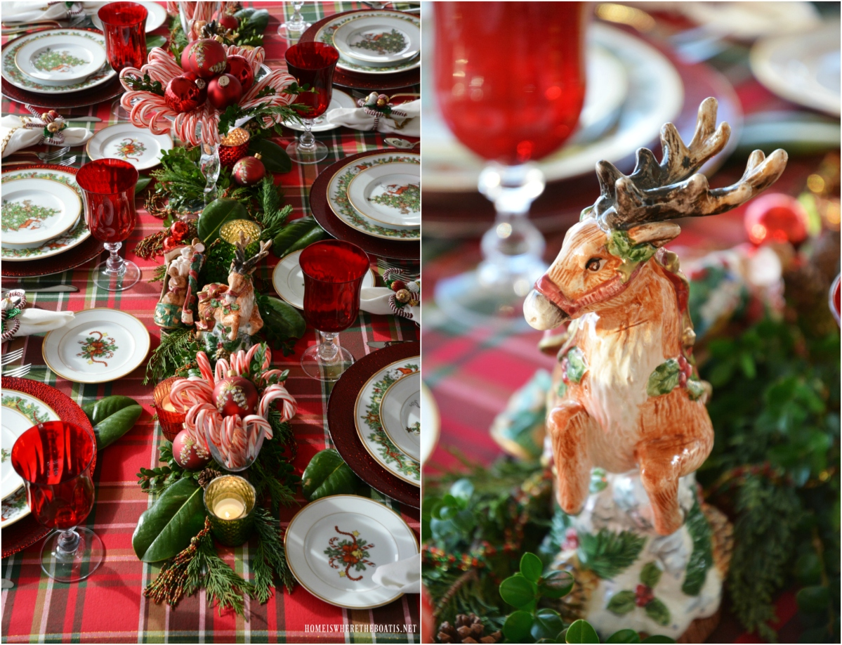 A Visit From St. Nicholas Christmas Tablescape