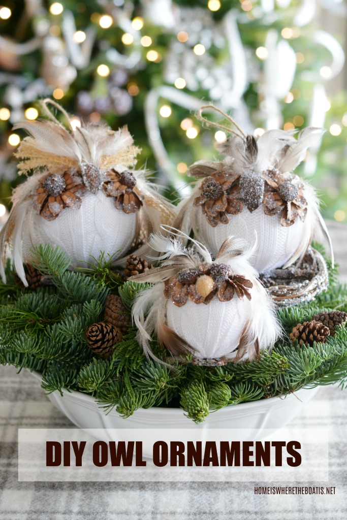 Diy Owl Ornaments A Hoot To Make Home Is Where The Boat Is
