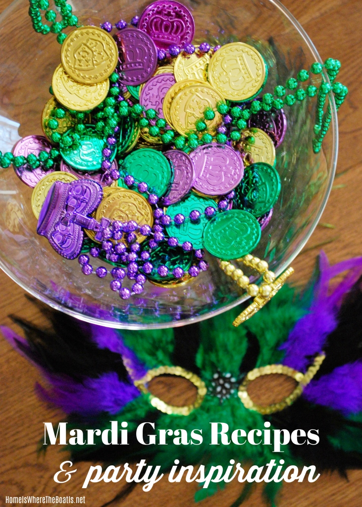 Quick and easy recipes and cocktails for a taste of the Big Easy to celebrate Mardi Gras! |©homeiswheretheboatis.net #mardigras #recipes #cocktail