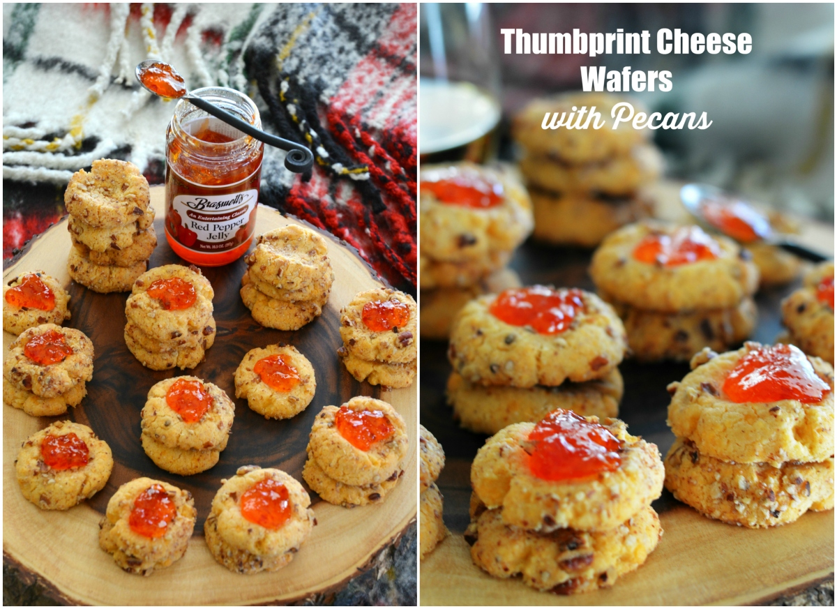 Thumbprint Cheese Wafers with Pecans