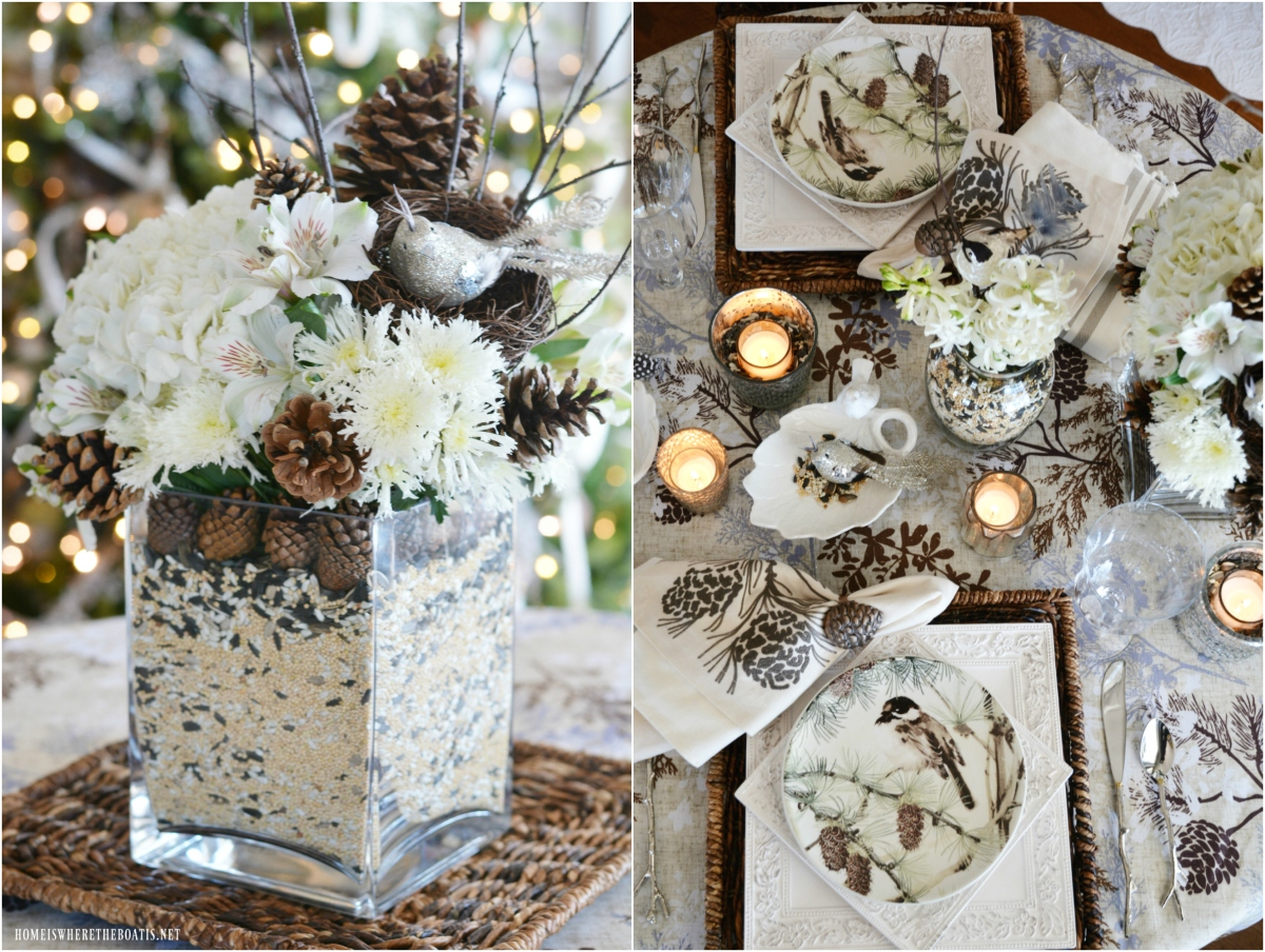 Monday Morning Blooms: Winter Nesting Flower Arrangement and Tablescape