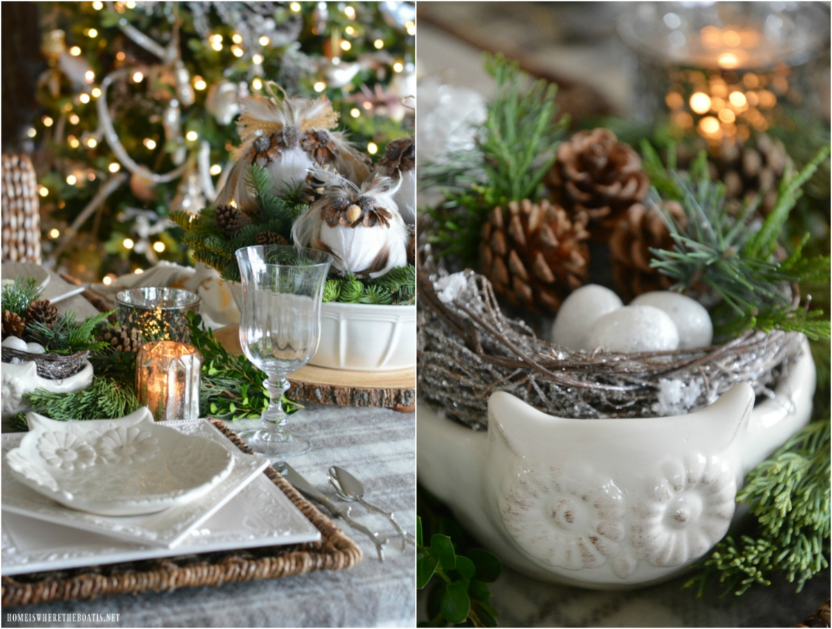 Whimsical Winter Owl Table