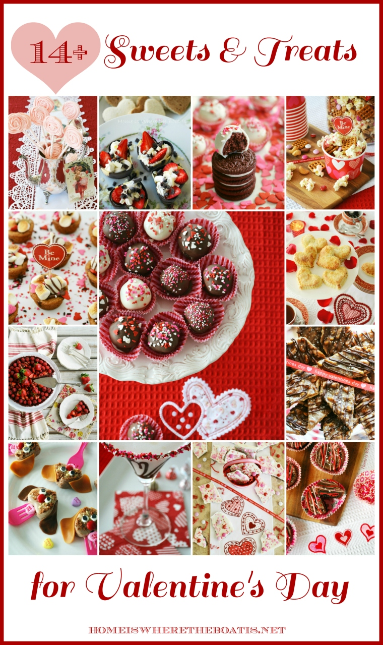 14+ Sweets & Treats to make your Valentine's Day celebration extra sweet! | ©homeiswheretheboatis.net #ValentinesDay #recipes #nobake #cocktail #handpie #truffle