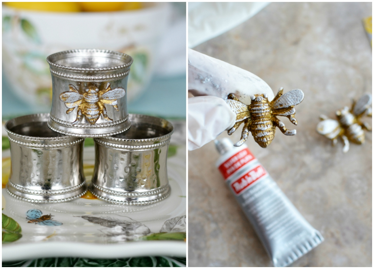 Transforming Napkin Rings with Magnets and Rub 'n Buff