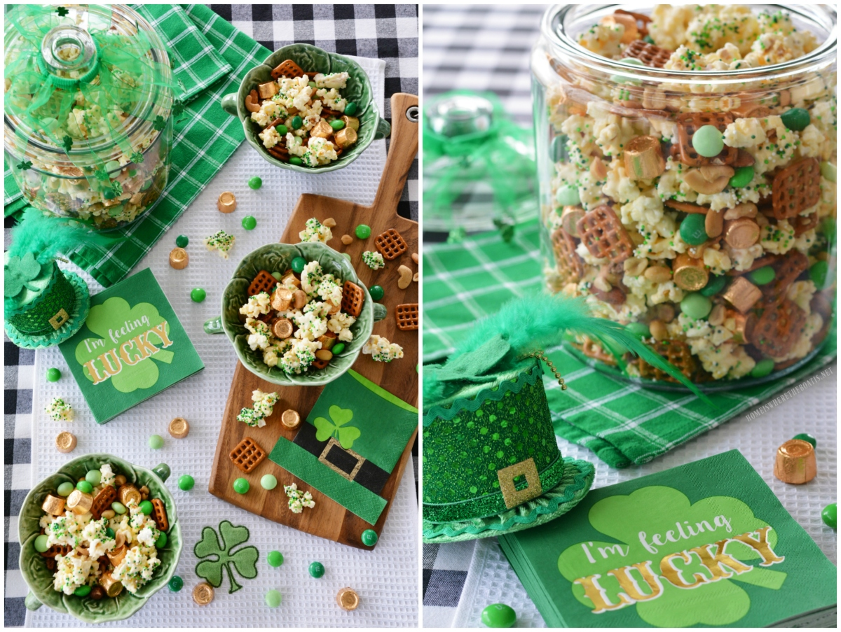 'Lucky' Popcorn Mix for St. Patrick's Day