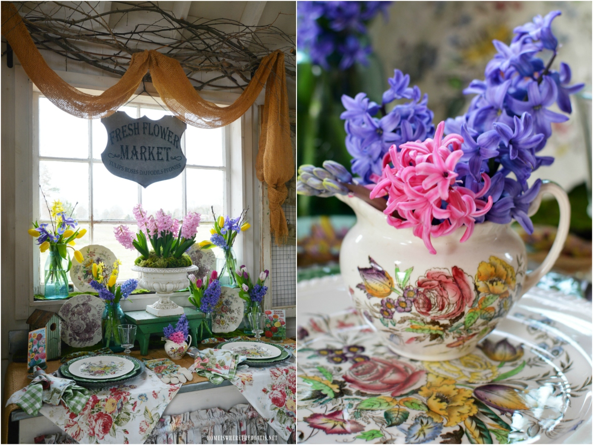 Fresh Flower Market: Spring Blooms in the Potting Shed