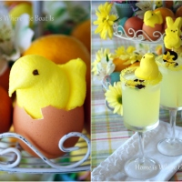 Easter Peeps Centerpiece and Peeptinis!
