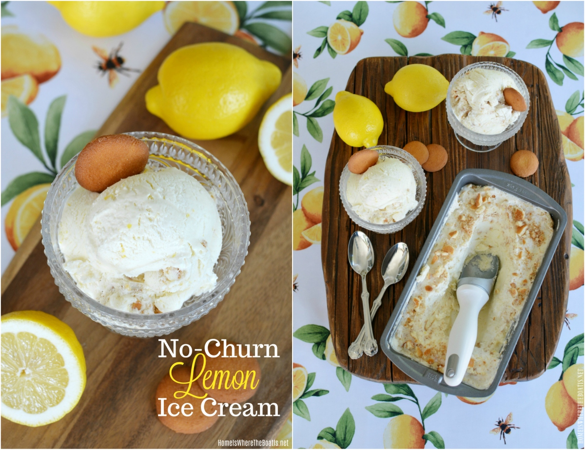 Lemon Lovers No-Churn Ice Cream