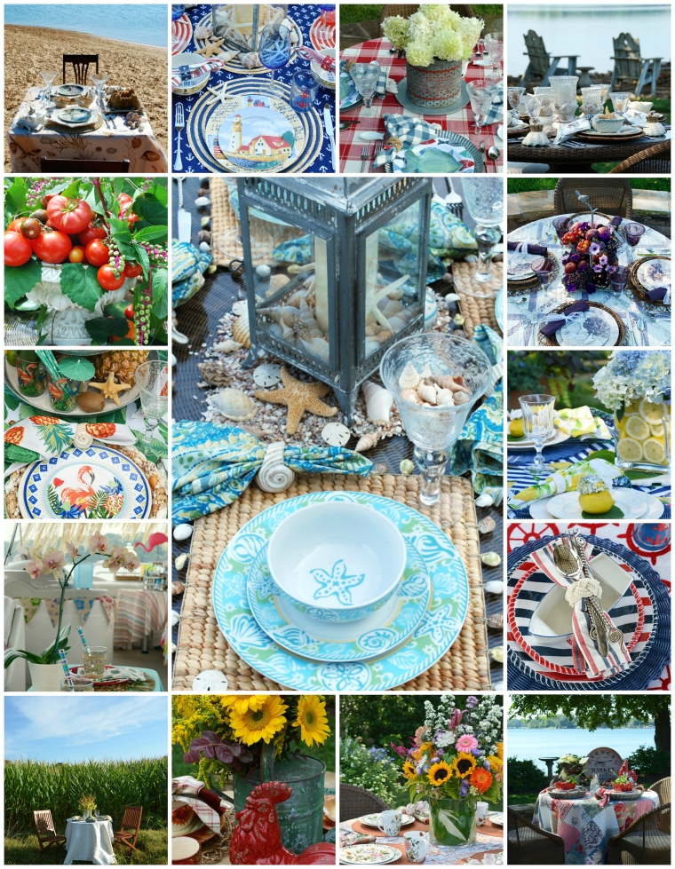 Stupendous Outdoor Dining Summer Tablescapes Centerpieces And Home Interior And Landscaping Palasignezvosmurscom