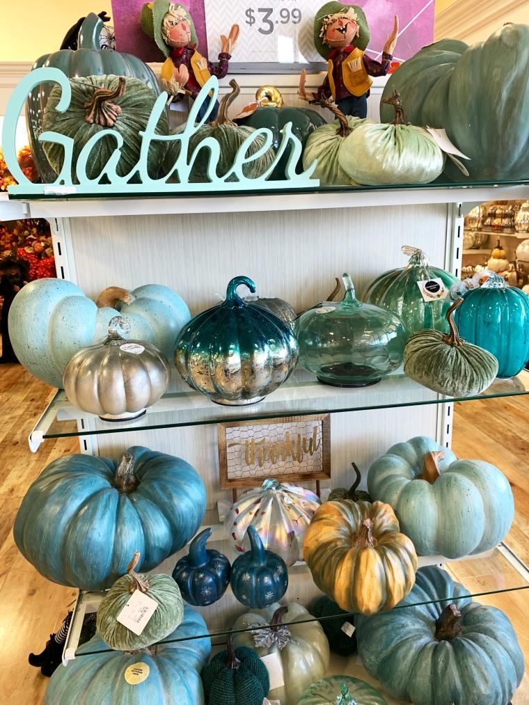 Pumpkins | ©homeiswheretheboatis.net #HomeGoods #fall