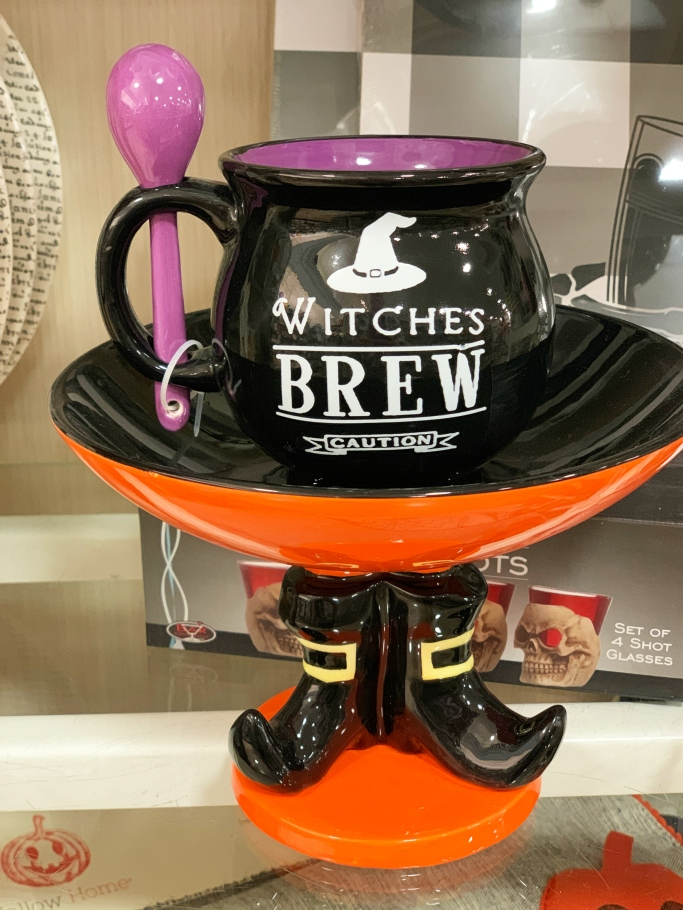 Witches Brew Halloween decor HomeGoods | ©homeiswheretheboatis.net #HomeGoods #halloween