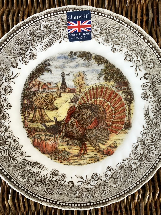 Churchill Royal Wessex Thanksgiving Turkey plates | ©homeiswheretheboatis.net #turkey #thanksgiving