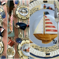 Nautical Table on the Porch