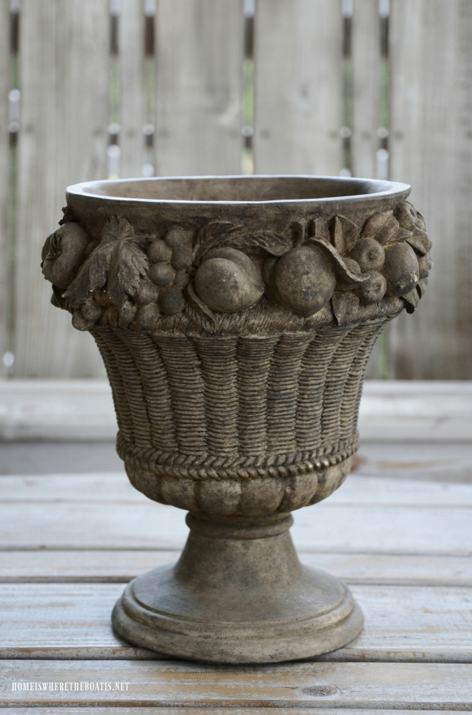 "Refreshing an urn with paint ""Before"" 