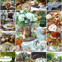 A Harvest of Fall: Tablescape Round Up