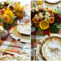 Woodland Friends Fall Table + DIY Floral Runner