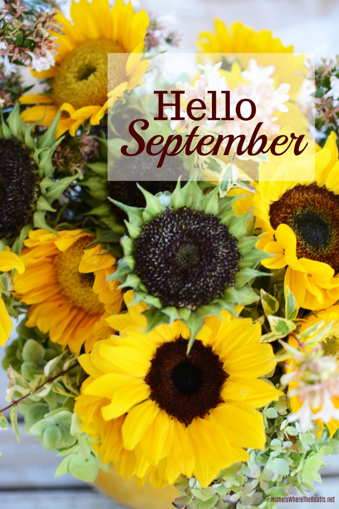Hello September | ©homeiswheretheboatis.net #sunflowers