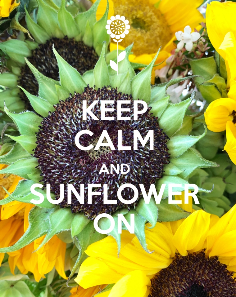 Keep Calm and Sunflower On | ©homeiswheretheboatis.net