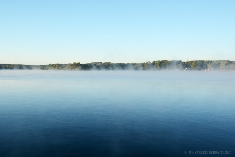Weekend Waterview: Steam Fog Lake Norman | ©homeiswheretheboatis.net