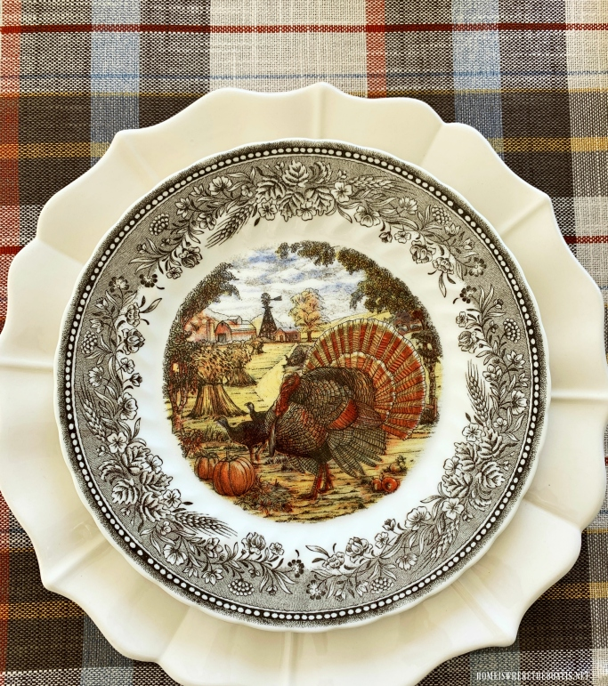 Royal Wessex by Churchill Turkey Plate | ©homeiswheretheboatis.net #thanksgiving #tablescapes #turkey