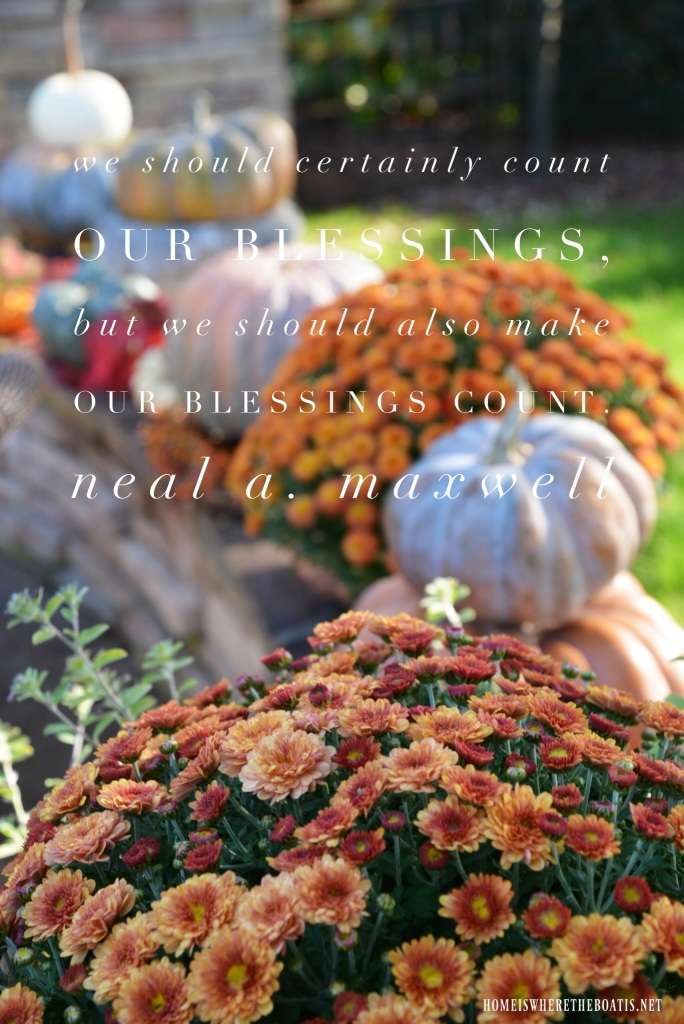 We should certainly count our blessings, but we should also make our blessings count. | ©homeiswheretheboatis.net #thanksgiving #quotes #blessings