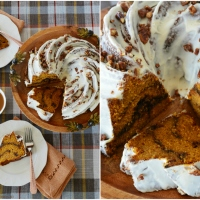 Latte Lover's Pumpkin Spice Bundt Cake with Kahlúa-Cream Cheese Glaze