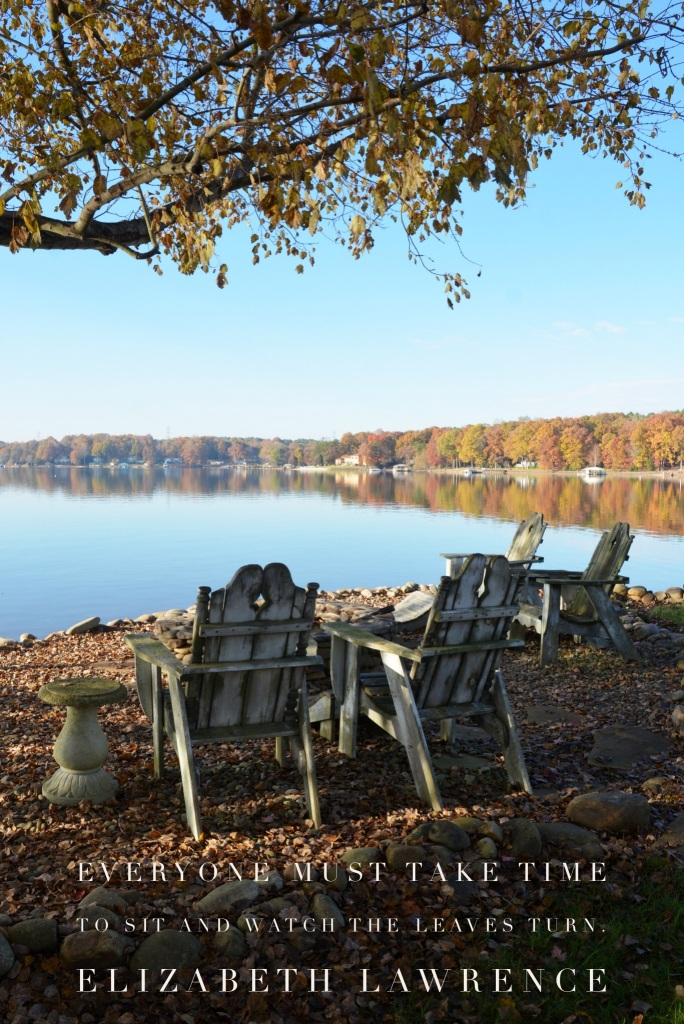Everyone must take time to sit and watch the leaves turn. ― Elizabeth Lawrence | ©homeiswheretheboatis.net