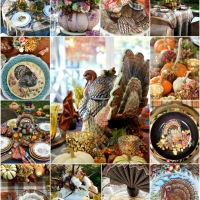 A Harvest of Thanksgiving Tables and Centerpiece Inspiration