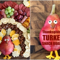 Turkey Snack Board for Thanksgiving
